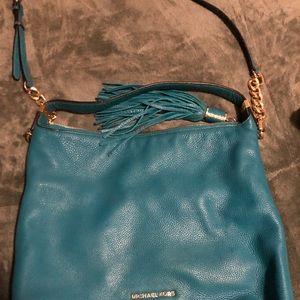 Handbags - Bright blue leather Michael Kors purse